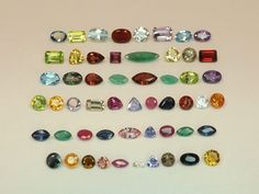 Mixed Lot Natural Gemstones & Diamond from scrap gold silver & vintage jewelry D