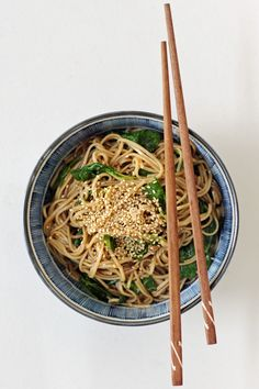 Spicy Soba Noodles with Watercress (vegan, gluten-free)