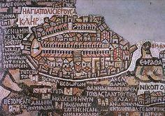 Ancient map of Petra, Jordan