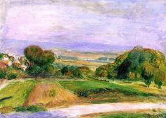 Landscape, Magagnosc  Pierre Auguste Renoir