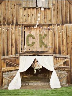 Cortinas entrada boda
