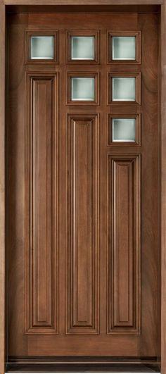 Exterior house doors front entry interiors 64 Ideas for 2019 Wood Entry Doors, The Doors, Panel Doors, Entrance Doors, Sliding Doors, Room Door Design, Door Design Interior, Latest Door Designs, Wooden Front Door Design