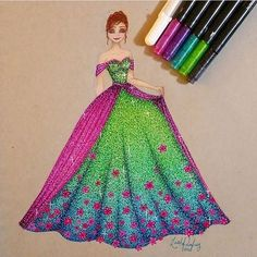 Imagens inspiradoras baseadas nos personagens da Disney. Disney Princess Fashion, Disney Princess Drawings, Disney Princess Art, Disney Princess Dresses, Disney Dresses, Princess Style, Disney Fan Art, Disney Drawings, Princess Anna