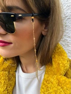 chain Gold Crosses Sunglasses Chain Gold Sunglasses Chain, Glasses Chain, Gold Eyeglasses Chain, Laces for Sunglasses, Glasses Holder. Gold Sunglasses, Sunglasses Women, Quirky Fashion, Bijoux Diy, Gold Cross, Eyeglasses, Eyewear, Fashion Accessories, Chain