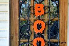 BOO Halloween decor rustic decoration pumpkin orange Halloween decorations - http://evilstyle.com/boo-halloween-decor-rustic-decoration-pumpkin-orange-halloween-decorations