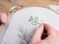 DIY tutorial: How to Embroider Statement Leaves on a Sweater  via en.DaWanda.com
