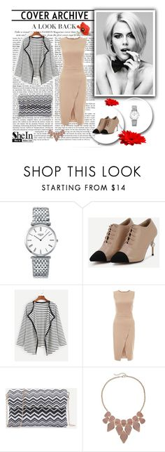 """""""SheIn 8/II"""" by hedija-okanovic ❤ liked on Polyvore featuring Longines, New Look, Apt. 9 and shein"""