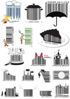 Japanese company D-Barcode specializes in designing. You may never look at a barcode in the same way again. Big Ideas are small. Barcode Art, Barcode Design, Typography Design, Inspiration Art, Graphic Design Inspiration, Graphic Design Art, Graphisches Design, Creative Design, Logo Design
