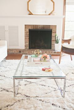 Low coffee table: http://www.stylemepretty.com/living/2015/05/05/ultimate-clear-furniture-roundup/