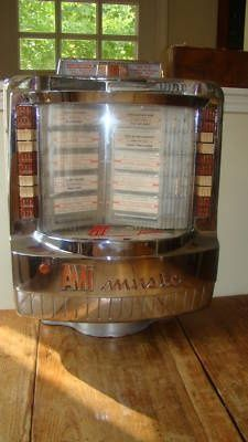 Table jukebox - Some cafes had these at every booth.