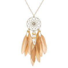 Mink Feather Dreamcatcher Necklace