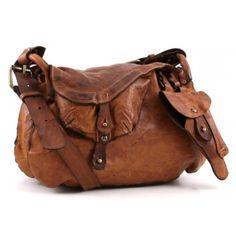 Campomaggi Lavata Shoulder Bag Leather cognac 44 cm - C1242VL-1702 - Designer Bags Shop - wardow.com