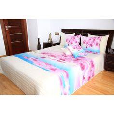 Ružovo krémové prehozy s motívom orchideí - domtextilu. Bed, Furniture, Home Decor, Homemade Home Decor, Stream Bed, Home Furnishings, Beds, Decoration Home, Arredamento
