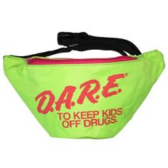 Neon Green DARE Fanny Pack   Neon Fanny Pack   Rave Fanny Pack