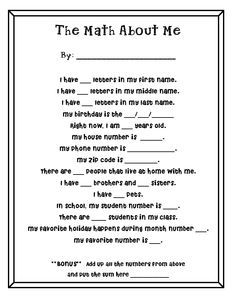 math student questionnaire  Very cute! Be mindful of beginning each sentence with an uppercase letter!