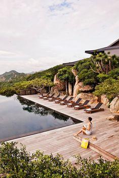 Luxury resort & Spa, Vinh Hy Bay, Vietnam.