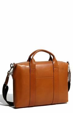 Modern twist on a classic, utilitarian accessory: the Jack Spade Leather Briefcase