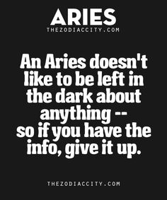 Zodiac Aries Facts.Want to see more? Get familiar with your zodiac sign here.