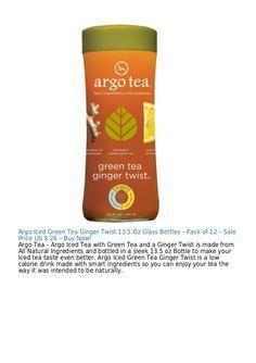 Argo Iced Green Tea Ginger Twist 13.5 Oz Glass Bottles – Pack of 12 – Sale Price US $ 26 – Buy Now! Argo Tea – Argo Iced T...