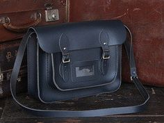 View our Women Classic Navy Blue Leather Satchel 13 Inch from the Women Coloured Satchels collection