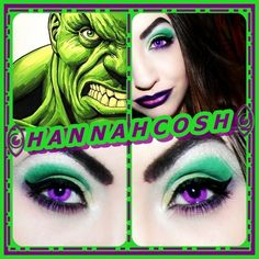 The Hulk Inspired. http://www.makeupbee.com/look.php?look_id=81213