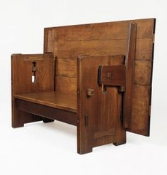 We had this in our home growing up on Cape Cod!  Charles Sumner Greene (of Greene & Greene) table-bench, 1904