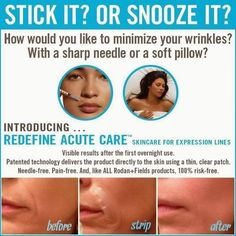 If you've been considering botox, Know there are needle free alternatives!  Acute Care from Rodan and Fields!  Questions about it?!  Message me!  ❤️