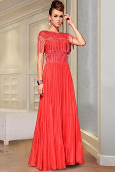 Luxurious Tassel Lace Hollow Out Shawl A-Line Floor-Length Evening Dress 10645097 - 2013 Evening Dresses - Dresswe.Com
