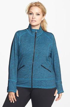 Zella 'Streamline Cross Dye' Jacket (Plus Size) I would love to wear this on my morning walk.