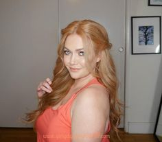 Strawberry blonde hair tutorial with extensions for wedding bridal romantic twist easy diy