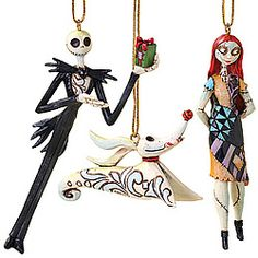 Nightmare Before Christmas Ornament Set of 3 By Jim Shore Includes Jack, Sally… Halloween Christmas, Disney Christmas, Christmas Time, Christmas Crafts, Xmas, Christmas Decorations, Father Christmas, Halloween Stuff, Halloween Ideas