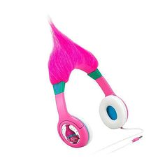 Rock around the house to your favorite tunes with these Trolls adjustable headphones. The built in volume limiter makes listening safe for little ears.<br><br>The Dreamworks Trolls Hair-Ific Headphones - Pink Features:<li>High quality headphones</li><li>Kid friendly sound levels protect hearing</li><li>Adjustable Headphone</li><li>Connect any audio device</li>