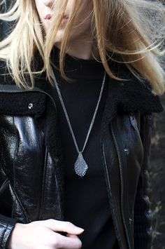 Hammered Oxidised Silver Statement Necklace | Handmade Jewellery by Tina Kotsoni | Lily Luna | Edinburgh | Scotland