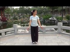 "▶ QIGONG Shaolin "" BaDuanJin "" ( 8 pieces of Brocade ) performed by Fanny Ng with a New Age Music ! - YouTube"