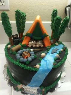 Camping/Fishing Themed Birthday Party for my two boys