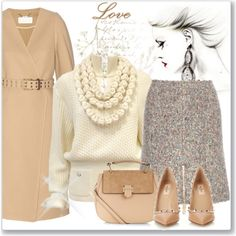 How To Wear Chlo Wool and Cashmere Coat Outfit Idea 2017 - Fashion Trends Ready To Wear For Plus Size, Curvy Women Over 20, 30, 40, 50