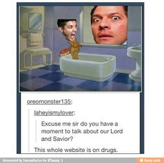 Only Supernatural fans will understand this and die laughing. The rest of you are missing out.