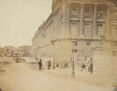 Barricade Place de la Concorde & Rue S.t Florentin - Photographies d'après nature sous la Commune de Paris, du 18 mars au 21 mai 1871 / par Léautté