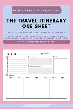 Vacation Planner Printables  Vacation Planner Planners And Forget