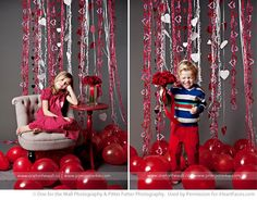 red balloons on the floor for Valentines day