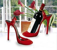 This is an Original red stiletto wine bottle holder. Red Stilettos, Stiletto Heels, High Heels, Wine Shoes, Shoe Holders, Wine Dress, Wine Bottle Holders, Wine Stoppers, Girls Shoes