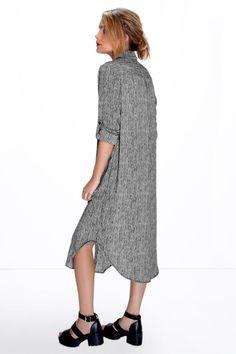Marsa Mono Striped Shirt Dress