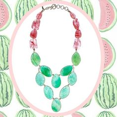 Its a unique designer gemstone jewelry necklace. Photography Collage, Digital Photography, Gemstone Jewelry, Jewelry Necklaces, Jewellery, Digital Collage, Stone Necklace, Agate, Watermelon