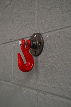 Industrial Hook Wall Hook Towel Hook by WestNinthVintage