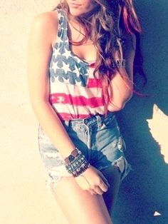 such a cute 4th of July outfit