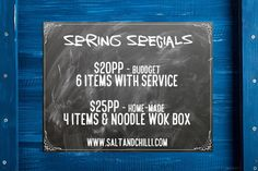 Spring Finger Food Catering Specials #adelaide #catering #ChalkBoard #chalk