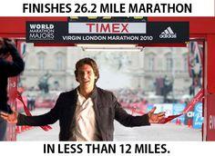Fast runner? Han Solo ran 26.2 miles. In under 12 miles.