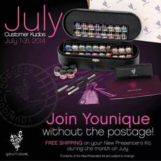 younique opportunity for july free shipping on all presenter kits 99 for over 400