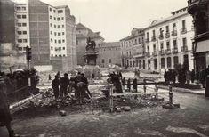 Obras de reforma de la Plaza Isabel la Católica de Granada. Febrero de 1964 Torres Molina/Archivo de IDEAL