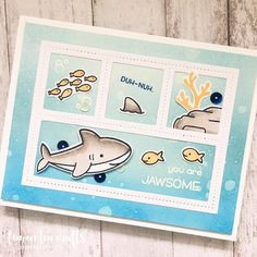 "104 Likes, 23 Comments - Thi Lam (@lemonteacrafts) on Instagram: ""Hi friends! Hope everybody is having a #jawsome Saturday! #lawnfawn #handmade #handmadecards…"""